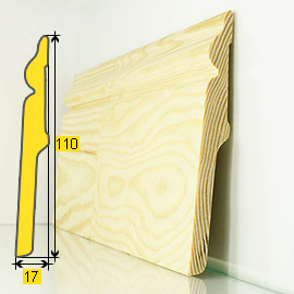 Skirting board 113F Pine